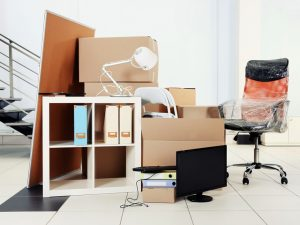 Photo of cardboard boxes in room